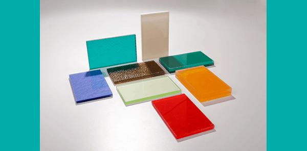 Glass samples for kitchen splashbacks