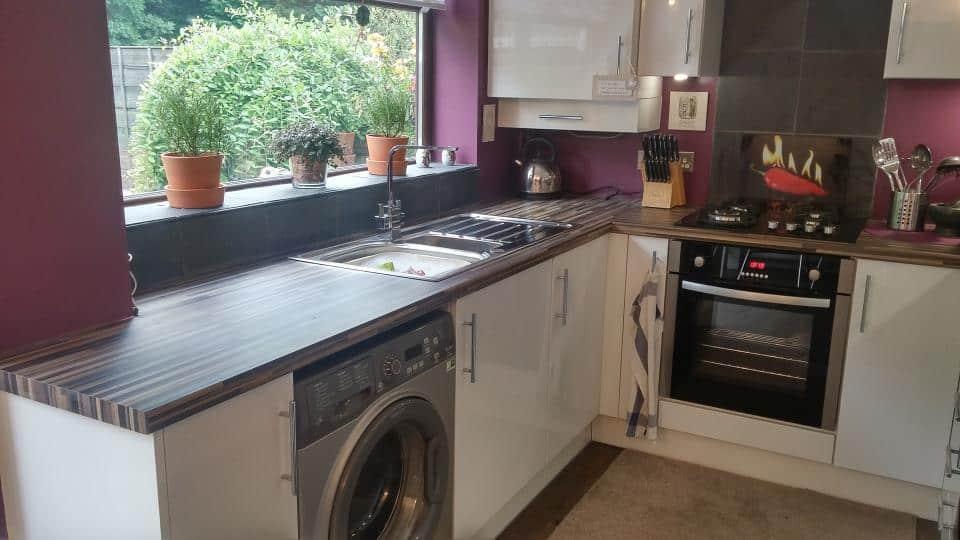 Detail of John Maddocks' new kitchen in Oldham
