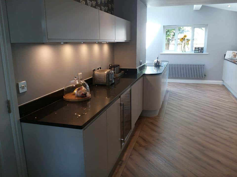 Example of downlights in kitchen in Worsley