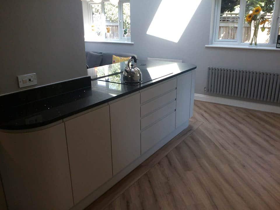 White kitchen units